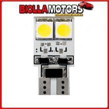98376 LAMPA 24V HYPER-LED 12 - 4 SMD X 3 CHIPS - (T10) - BIFOCUS - W2,1X9,5D - 2 PZ - D/BLISTER - BLU - DOPPIA POLARIT? - RESIST