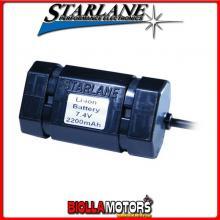 BLI07422 Batteria STARLANE agli Ioni di Litio da 7,4V 2,2Ah da caricarsi solo con lo specifico caricabatterie codice: BCLIMV.