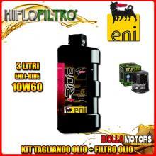 KIT TAGLIANDO 3LT OLIO ENI I-RIDE 10W60 TOP SYNTHETIC KTM 400 EGS 2nd Oil 400CC - + FILTRO OLIO HF156