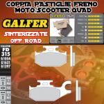 FD315G1397 PASTIGLIE FRENO GALFER SINTERIZZATE POSTERIORI CAN-AM OUTLANDER 800 MAX STD/XT DER./RIGHT 07-
