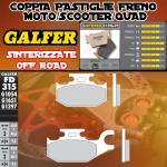 FD315G1397 PASTIGLIE FRENO GALFER SINTERIZZATE POSTERIORI CANNONDALE CANNIBAL 440 IZQ. 02-