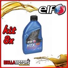 KIT 8X LITRO OLIO ELF HTX 909 2T MISCELA - 8x 155877