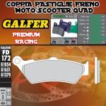 FD172G1651 PASTIGLIE FRENO GALFER PREMIUM ANTERIORI HONDA NTV 650 DEAUVILLE 98-01