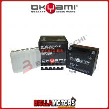 YTX12-BS BATTERIA OKYAMI YAMAHA Grizzly 300 Automatic 300 2012- E07058 YTX12BS