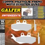 FD162G1380 PASTIGLIE FRENO GALFER SINTERIZZATE ANTERIORI PEUGEOT SATELIS 125 K15 COMPRESOR (AJP) 06-