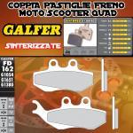 FD162G1380 PASTIGLIE FRENO GALFER SINTERIZZATE ANTERIORI PIAGGIO SUPER HEXAGON GTX 180 (G) 01-