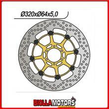 6591060 DISCO FRENO ANTERIORE DX-SX NG MOTO MORINI Corsaro 1200CC 2005/2010 1060 320-80-64-4-6-8,5