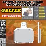 FD220G1380 PASTIGLIE FRENO GALFER SINTERIZZATE POSTERIORI ADIVA AD 400 09-