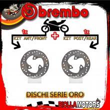BRDISC-1667 KIT DISCHI FRENO BREMBO MBK NITRO 1997-2010 50CC [ANTERIORE+POSTERIORE] [FISSO/FISSO]