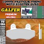 FD086G1651 PASTIGLIE FRENO GALFER PREMIUM POSTERIORI PEUGEOT METROPOLIS 400i 12-