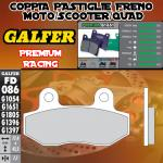 FD086G1651 PASTIGLIE FRENO GALFER PREMIUM ANTERIORI HYOSUNG GV 125 00-04