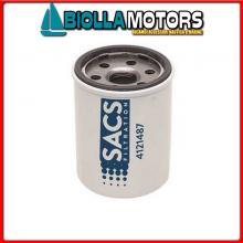 4121487 CARTUCCIA OIL M-35-8M0065103C< Filtro Olio Sacs per Motori Fuoribordo 4 Tempi