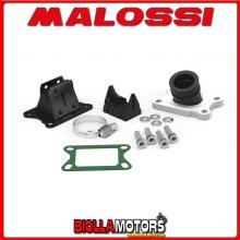 2013800 KIT COLLETTORE ASPIRAZIONE MALOSSI INCLINATO X360 D. 21 - 24,5 MBK X-POWER 50 2T LC (MINARELLI AM 6) E LUNGHEZZA 27 IN F