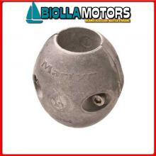 5151051 ANODO COLLARE ALU ASSE D2(50.8) Bracciali in Alluminio per Assi Elica in Pollici
