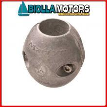 5151063 ANODO COLLARE ALU ASSE D2 1/2 Bracciali in Alluminio per Assi Elica in Pollici