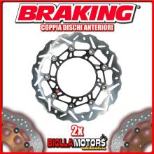 WK102L+WK102R COPPIA DISCHI FRENO ANTERIORE DX + SX BRAKING TRIUMPH SPEED TRIPLE 1050cc 2008-2013 WAVE FLOTTANTE