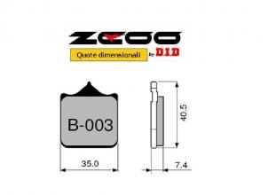 45B00301 PASTIGLIE FRENO ZCOO (B003 EX C) BMW G 450 SMR 2009- (ANTERIORE)