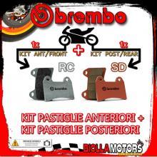BRPADS-22051 KIT PASTIGLIE FRENO BREMBO MOTO MORINI GRANFERRO 2010- 1200CC [RC+SD] ANT + POST