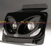 OPTIQUE00502 MASCHERA ANTERIORE BCD nera TWIN LIGHT- Booster 2004