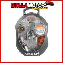 OCLKH1H7 OSRAM KIT LAMPADE DI RICAMBIO 12V CLKH1H7 - SCATOLA PLAST. - H1/H7