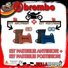 BRPADS-38068 KIT PASTIGLIE FRENO BREMBO ADLY ATV 2005- 300CC [SD+CC] ANT + POST