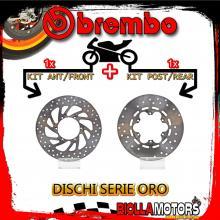 BRDISC-1660 KIT DISCHI FRENO BREMBO MALAGUTI MADISON 2002-2006 400CC [ANTERIORE+POSTERIORE] [FISSO/FISSO]