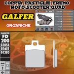 FD200G1054 PASTIGLIE FRENO GALFER ORGANICHE POSTERIORI PEUGEOT SATELIS 250 CITY 06-