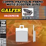 FD200G1054 PASTIGLIE FRENO GALFER ORGANICHE POSTERIORI SYM SYMPHONY 125 SR 10-