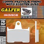 .FD267G1054 PASTIGLIE FRENO GALFER ORGANICHE POSTERIORI KAWASAKI ZG 1400 CONCOURS ABS 08-09