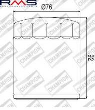 100609565 COF071c FILTRO OLIO HARLEY DAVINSON FLSTSCI Softail Springer Classic (EFI) 05-06 (C306)