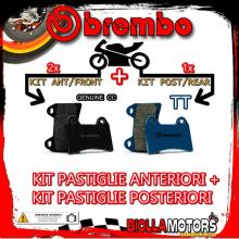 BRPADS-4368 KIT PASTIGLIE FRENO BREMBO MOTO MORINI GRANPASSO 2008- 1200CC [GENUINE+TT] ANT + POST