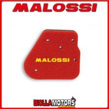 1414483 SPUGNA FILTRO ARIA MALOSSI BENELLI QUATTRONOVEX 50 2T EURO 2 DOPPIO STRATO DOUBLE RED SPONGE PER FILTRO ORIGINALE -