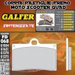 FD068G1370 PASTIGLIE FRENO GALFER SINTERIZZATE ANTERIORI NORTON COMMANDO 961 SE 10-