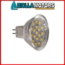 2167518 LAMPADINA FARETTO LED G5.3 12/24V MR16< Lampadina Faretto Power LED G5,3