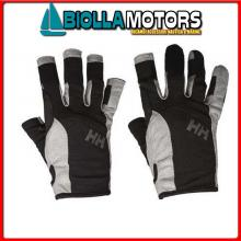 3049512 SAILING GLOVE SHORT 990 BLACK M Guanti HH Sailing Gloves