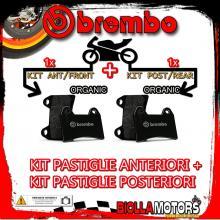 BRPADS-49780 KIT PASTIGLIE FRENO BREMBO SYM GT 2007- 500CC [ORGANIC+ORGANIC] ANT + POST