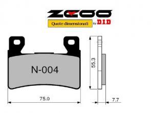 45N00400 PASTIGLIE FRENO ZCOO (N004 EX) HONDA CBR 600 F 2001-2006 (ANTERIORE)