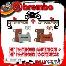BRPADS-23686 KIT PASTIGLIE FRENO BREMBO MOTO MORINI GRANFERRO 2010- 1200CC [SC+SD] ANT + POST