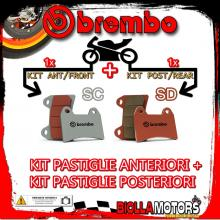 BRPADS-23690 KIT PASTIGLIE FRENO BREMBO SWM SUPERDUAL 2015- 600CC [SC+SD] ANT + POST