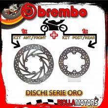 BRDISC-85 KIT DISCHI FRENO BREMBO APRILIA PEGASO 1989-1999 125CC [ANTERIORE+POSTERIORE] [FISSO/FISSO]