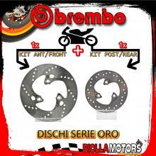 BRDISC-1597 KIT DISCHI FRENO BREMBO MALAGUTI F12 PHANTOM CAPIREX 2003- 50CC [ANTERIORE+POSTERIORE] [FISSO/FISSO]