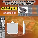 FD262G1054 PASTIGLIE FRENO GALFER ORGANICHE ANTERIORI MONDIAL PIEGA 1000 03-