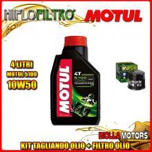 KIT TAGLIANDO 4LT OLIO MOTUL 5100 10W50 APRILIA RSV 1000 RSV4 R 1000CC 2009-2011 + FILTRO OLIO HF138