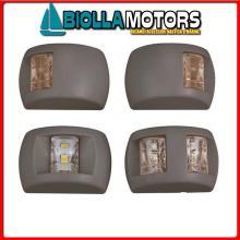 2111034 FANALE BLACK POPPA WHITE LED< Fanali di Navigazione (CE) Compact LED