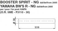5982 COPPIA STELI FORCELLA BOOSTER SPIRIT - NG dal 2005