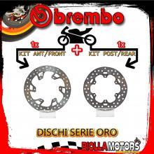 BRDISC-1179 KIT DISCHI FRENO BREMBO KTM EXC 1998- 125CC [ANTERIORE+POSTERIORE] [FISSO/FISSO]