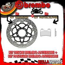 KIT-U2JW DISCO E PASTIGLIE BREMBO ANTERIORE MV AGUSTA F3 675CC 2011-2014 [GENUINE+FLOTTANTE] 78B40893+07BB1973