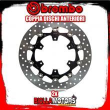 2-78B408A8 COPPIA DISCHI FRENO ANTERIORE BREMBO KTM SMR R 2014- 690CC FLOTTANTE