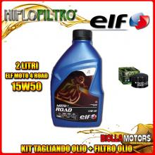 KIT TAGLIANDO 2LT OLIO ELF MOTO 4 ROAD 15W50 GILERA 500 Fuoco / LT 500CC 2007-2015 + FILTRO OLIO HF184