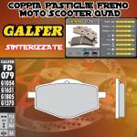 FD079G1370 PASTIGLIE FRENO GALFER SINTERIZZATE POSTERIORI GILERA 125 RC TOP RALLY 89-89
